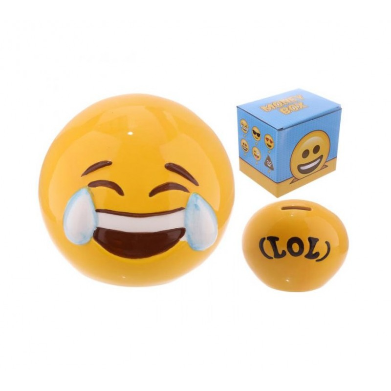 "SALVADANAIO EMOTICON SMILE EMOJI "" RISATA "" MB200"
