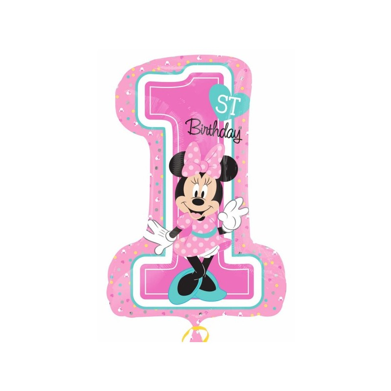 PALLONCINO FOIL SUPERSHAPE 1 ANNO MINNIE 34352