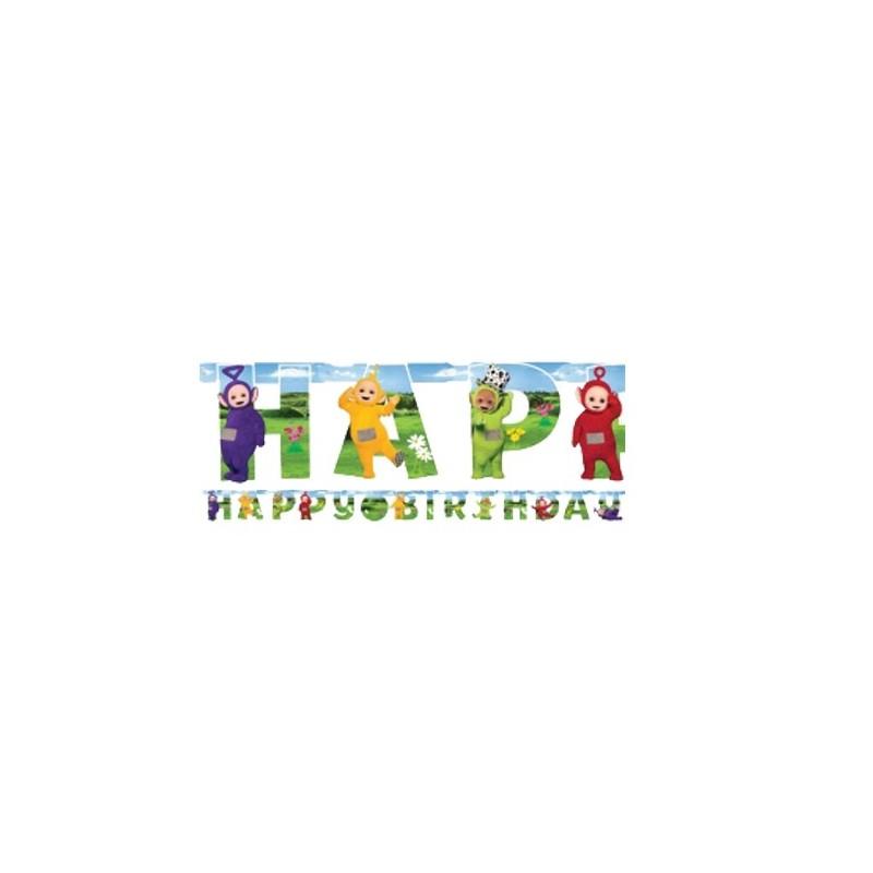 "GHIRLANDA "" HAPPY BIRTHDAY "" TELETUBBIES PERSONALIZZABILE 9901446"