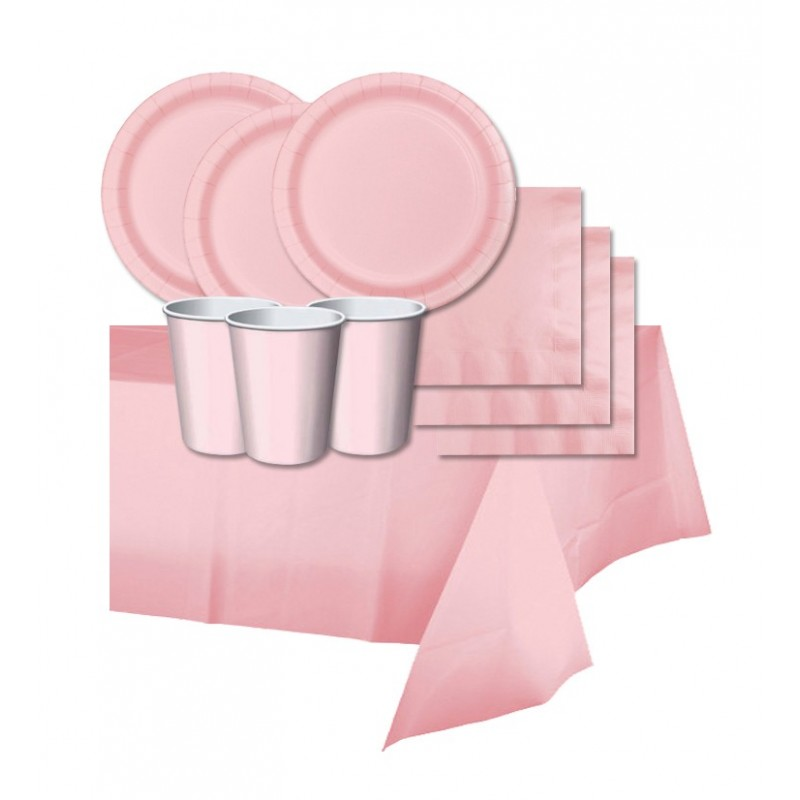 KIT N 3 -ADDOBBI FESTA TINTA UNITA CLASSIC PINK ROSA