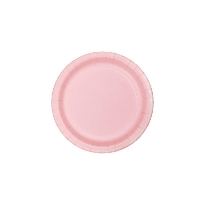 PIATTI DESSERT TINTA UNITA CLASSIC PINK ROSA 40PZ