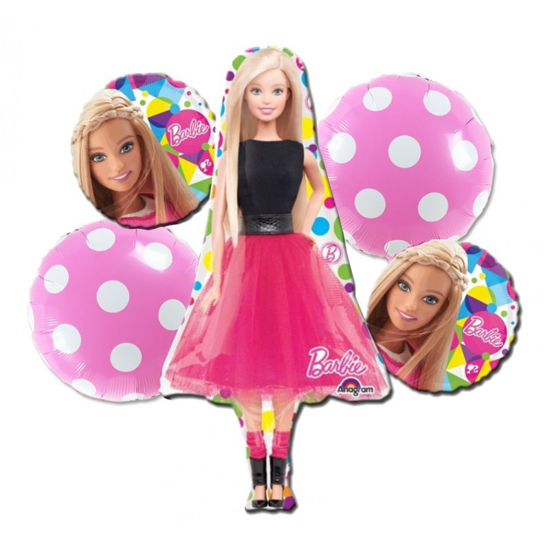 BOUQUET PALLONCINI FOIL N8 BARBIE