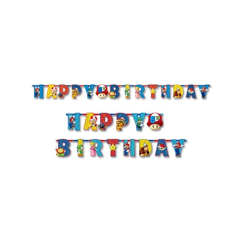 FESTONE GHIRLANDA HAPPY BIRTHDAY SUPER MARIO RUN 9901542