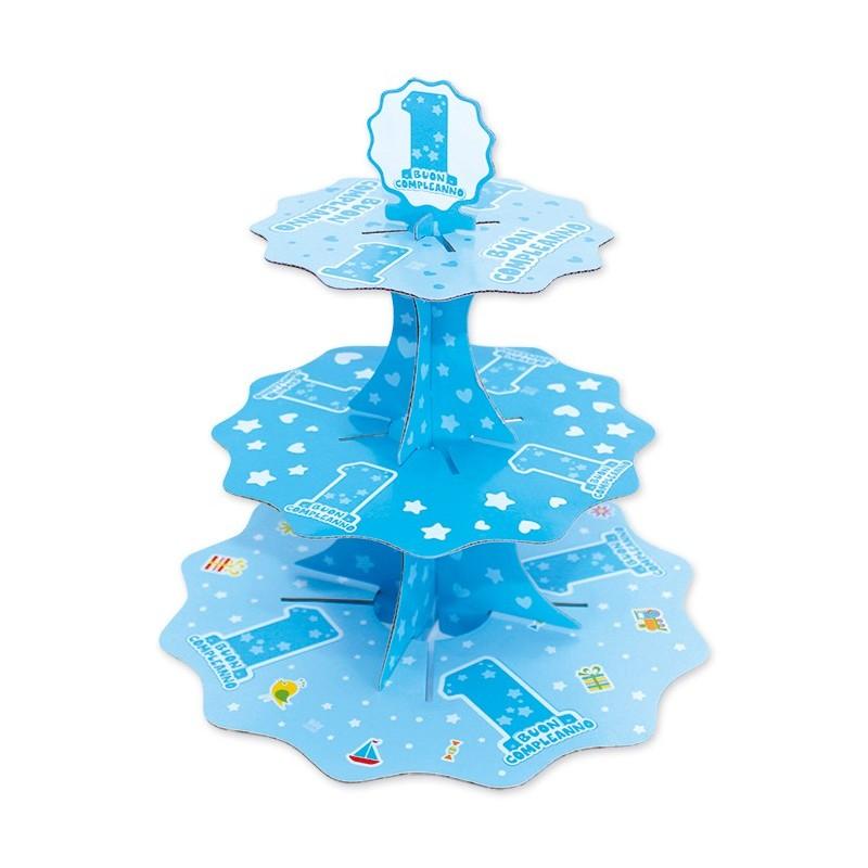 ALZATINA BUON COMPLEANNO 1 ANNO ONE LIGHT BLUE 42905