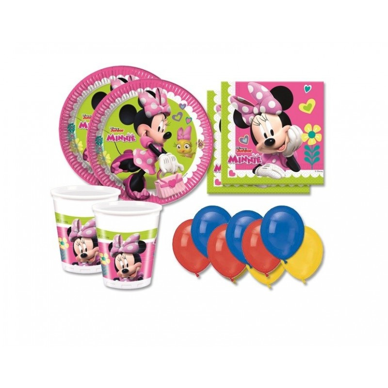 KIT N 22 - ADDOBBI FESTA COMPLEANNO MINNIE HAPPY HELPERS DISNEY
