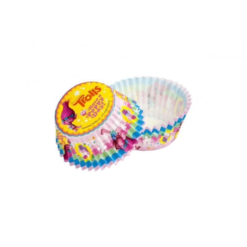 PIROTTINI PER CUPCAKE/ MUFFIN TROLLS 50 PZ 11927