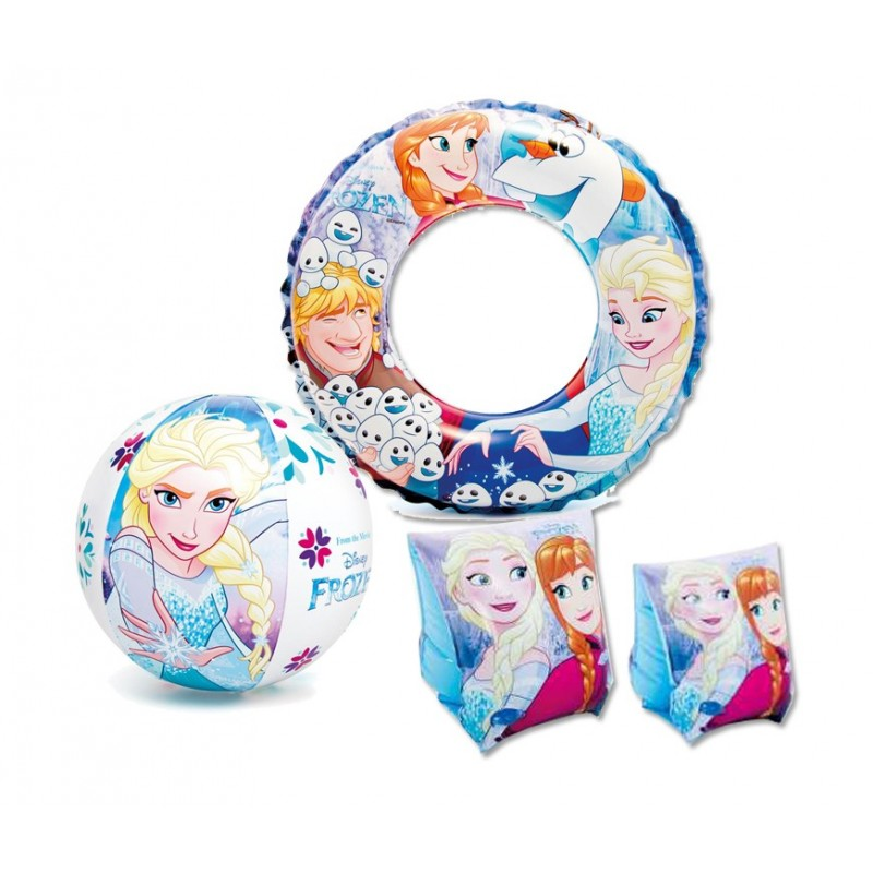 SET ACCESSORI MARE GONFIABILI FROZEN