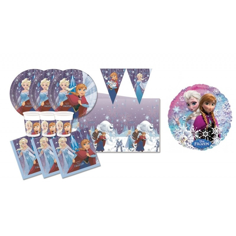 KIT COMPLEANNO FROZEN SNOWFLAKES N.10