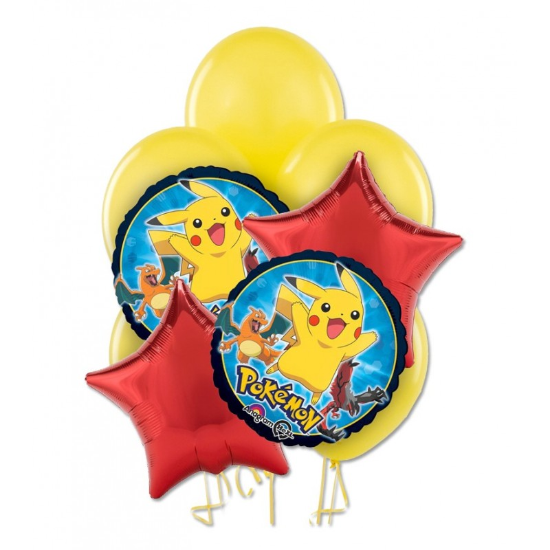 BOUQUET PALLONCINI FOIL N 9 - POKEMON
