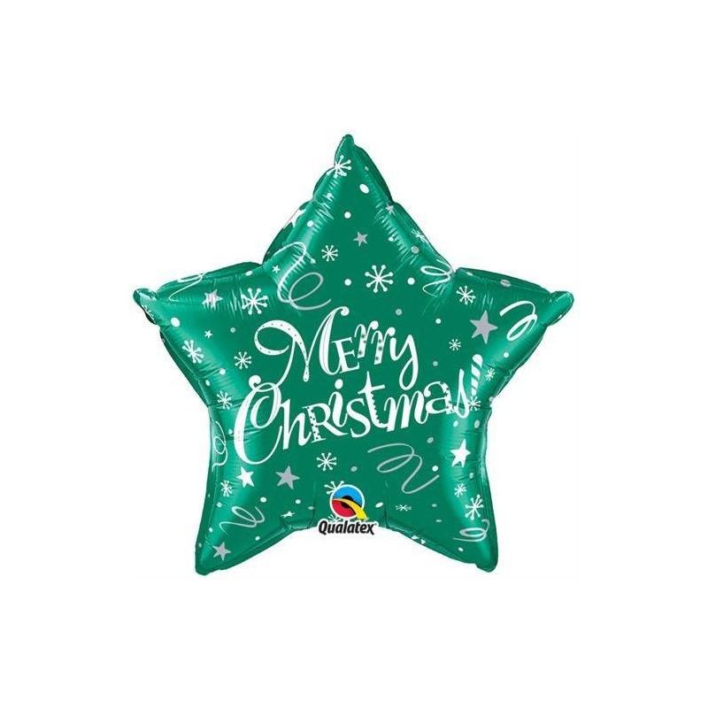 99810 PALLONE FOIL QUALATEX MERRY CHRISTMAS 46 CM