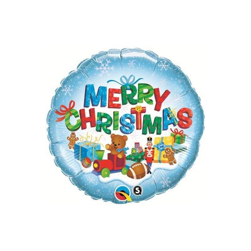 40079 PALLONE FOIL QUALATEX MERRY CHRISTMAS 46 CM