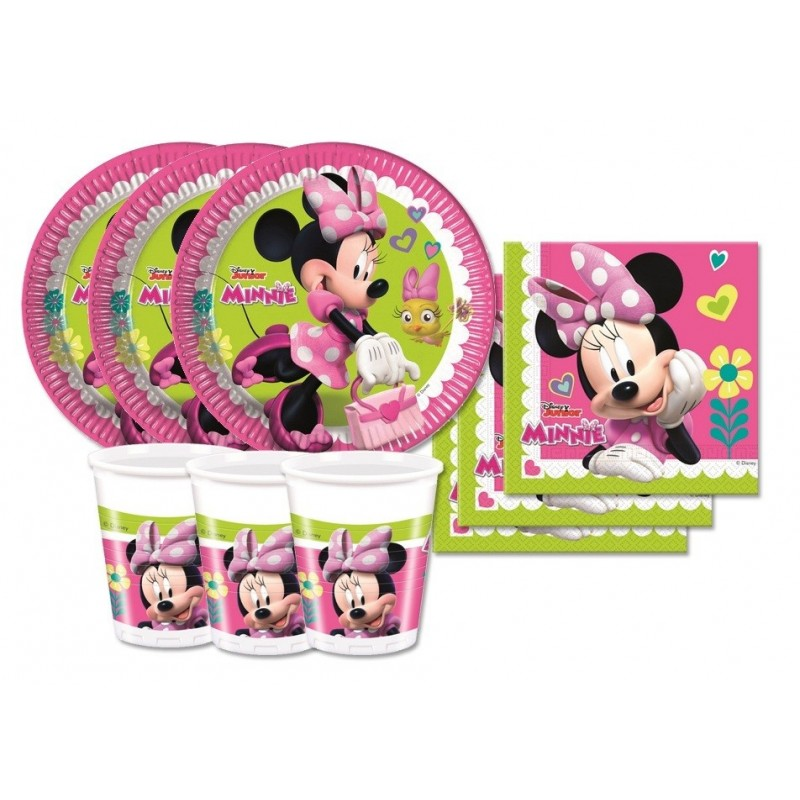 KIT N2 72 PZ COMPLEANNO BAMBINA MINNIE