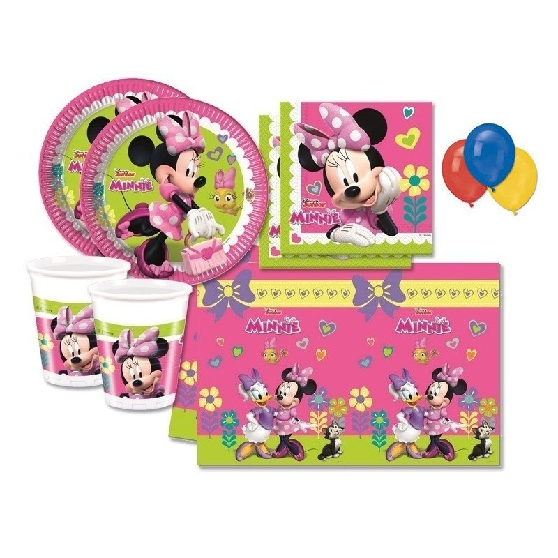 KIT COMPLEANNO 60 PERSONE BAMBINA MINNIE DISNEY