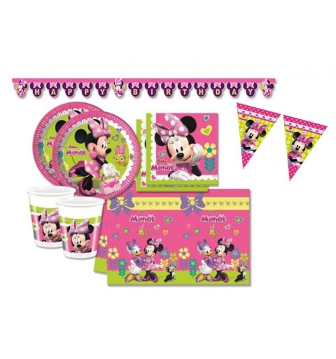 KIT N 17 COMPLETO 40 PERSONE COMPLEANNO MINNIE BOUQUET DISNEY