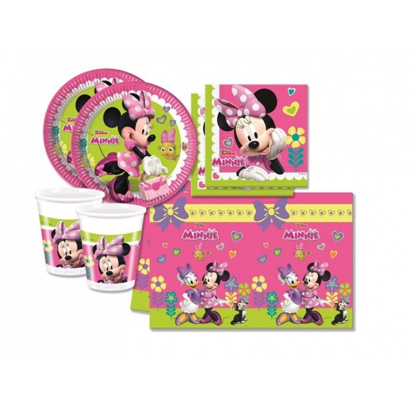 SET PER COMPLEANNO PARTY BAMBINA MINNIE DISNEY
