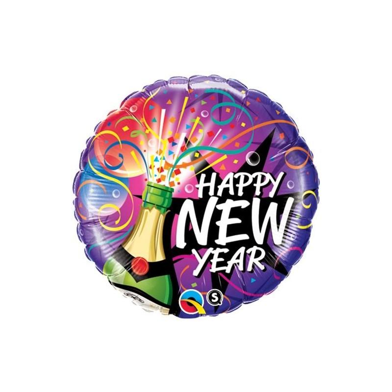 40085 PALLONE FOIL QUALATEX HAPPY NEW YEAR
