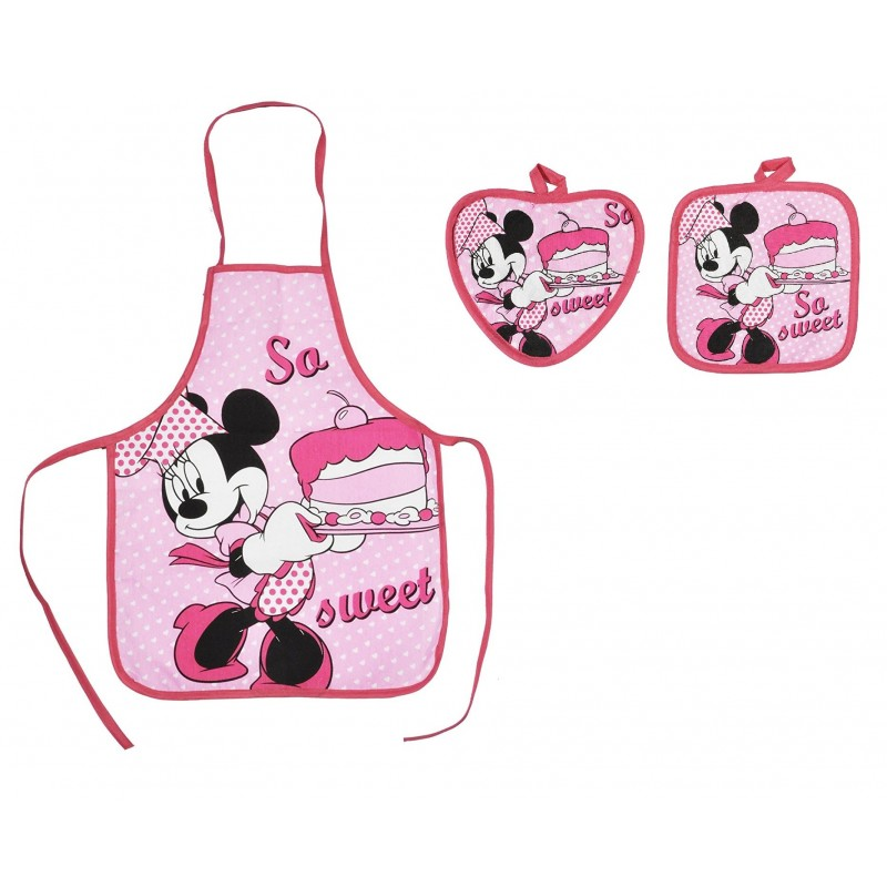 SET GREMBIULE + 2 PRESINE MINNIE DISNEY CHEF D88076-9