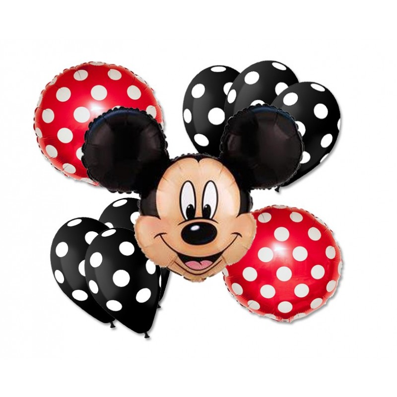 BOUQUET PALLONCINI FOIL N 5 TOPOLINO MICKEY MOUSE