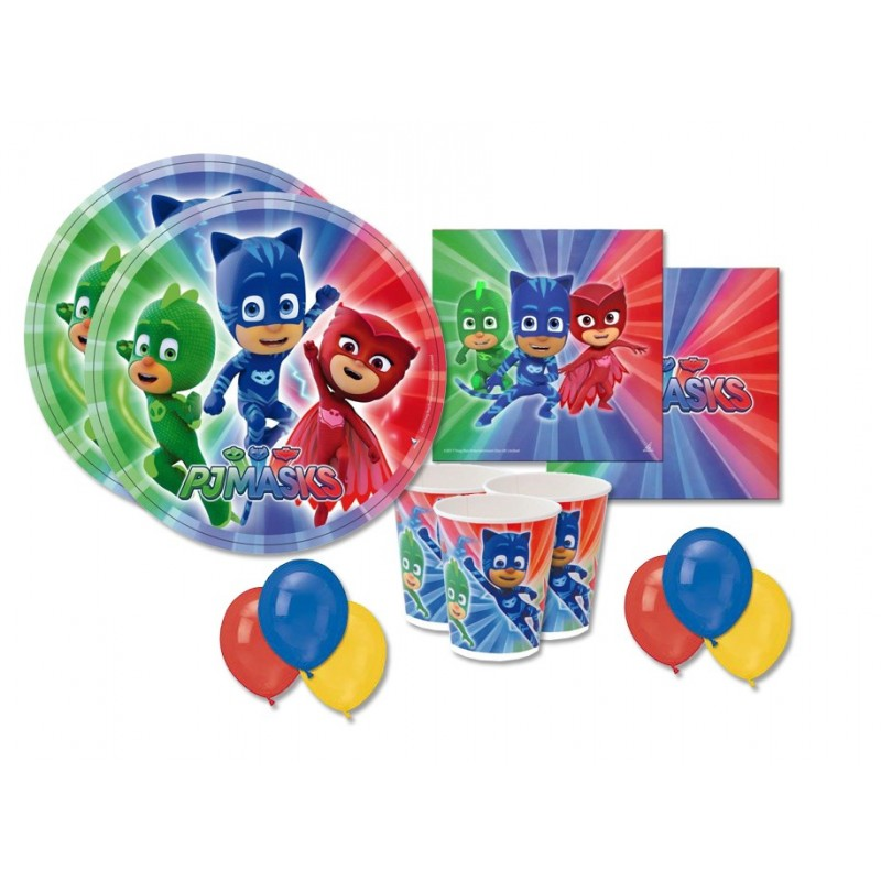 KIT N 22 - ADDOBBI FESTA SUPER PIGIAMINI PJMASKS