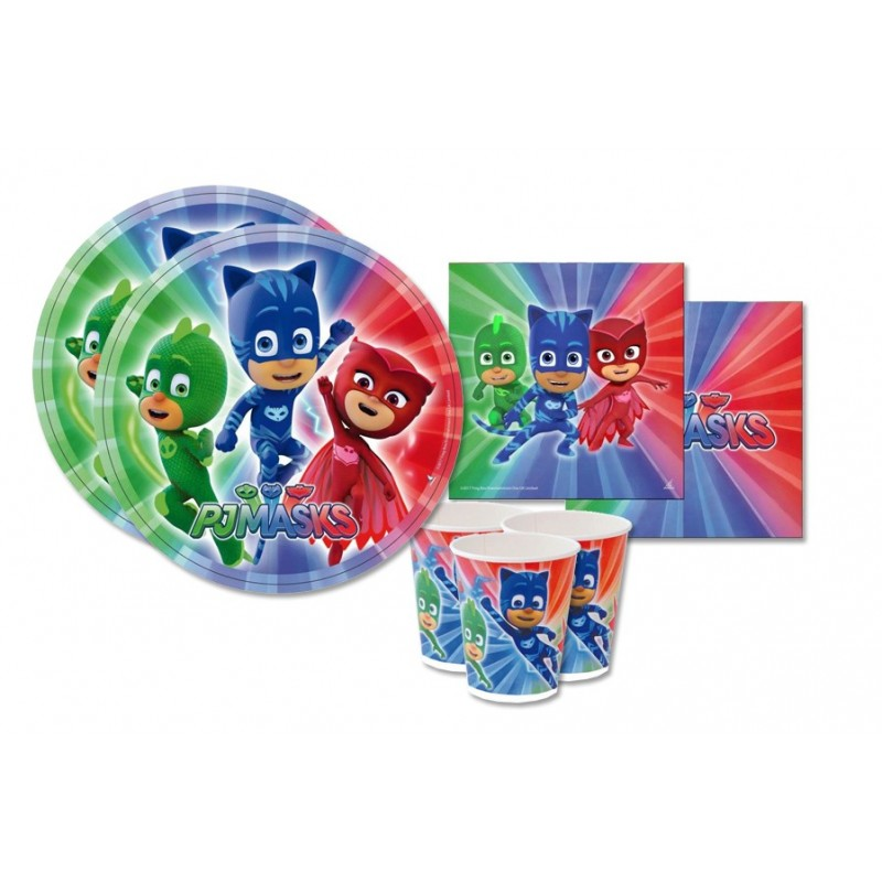 KIT N 29 - SUPER PIGIAMINI PJMASKS ACCESSORI FESTA