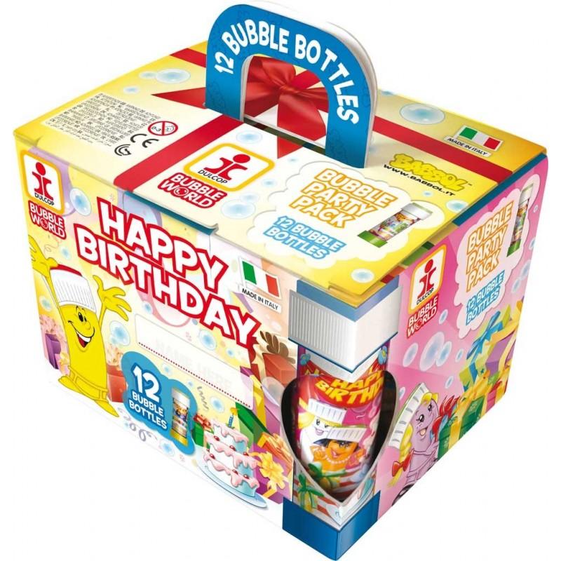 PARTY BUBBLES - CONFEZIONE BOX DA 12 BOLLE DI SAPONE