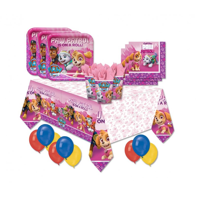 KIT N 4 - COMPLEANNO BAMBINA PAW PATROL GIRL - PINK