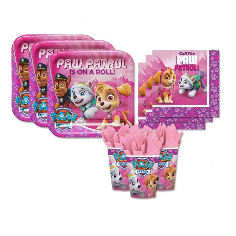 KIT N 29 - PAW PATROL GIRL - PINK COORDINATO COMPLEANNO