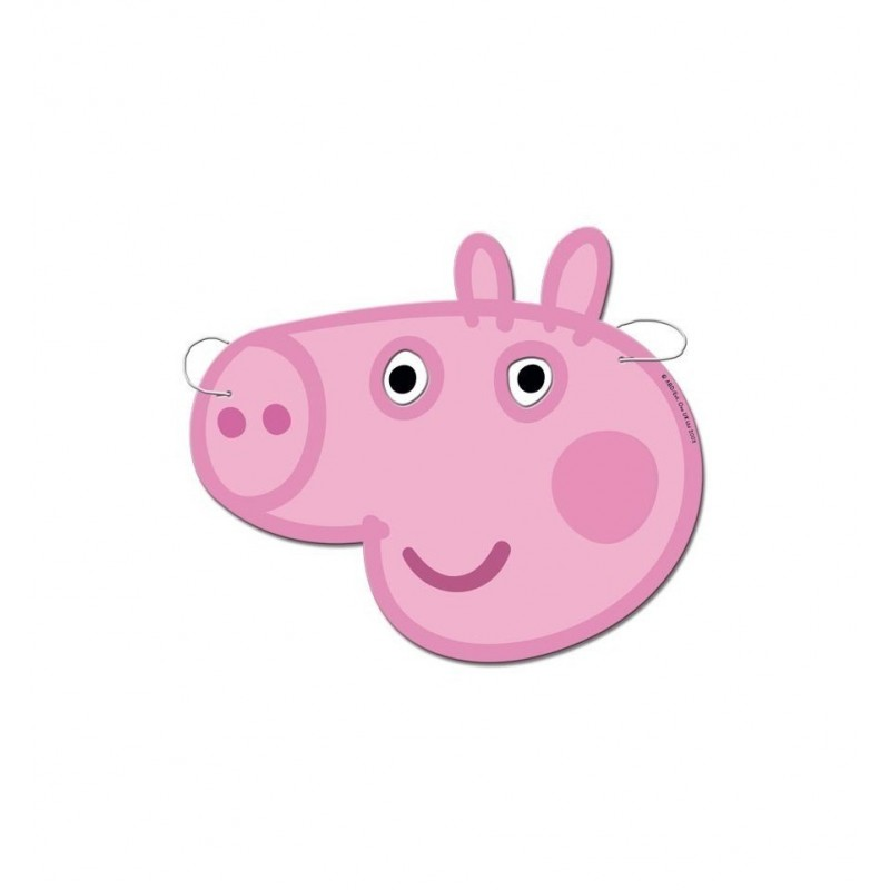 MASCHERINE PEPPA PIG IN CARTONCINO 6 PZ 016000733