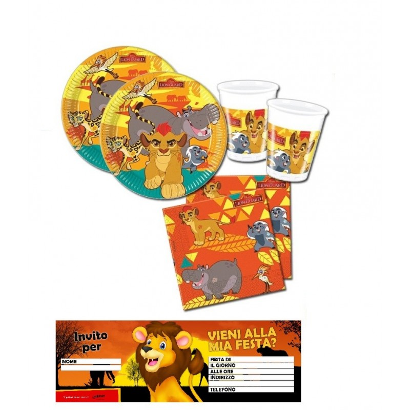 KIT COMPLEANNO n.23 RE LEONE THE LION GUARD