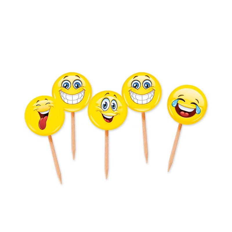 STUZZICADENTI / PICKS FACCINE EMOTICON SMILE 75 PZ 61840