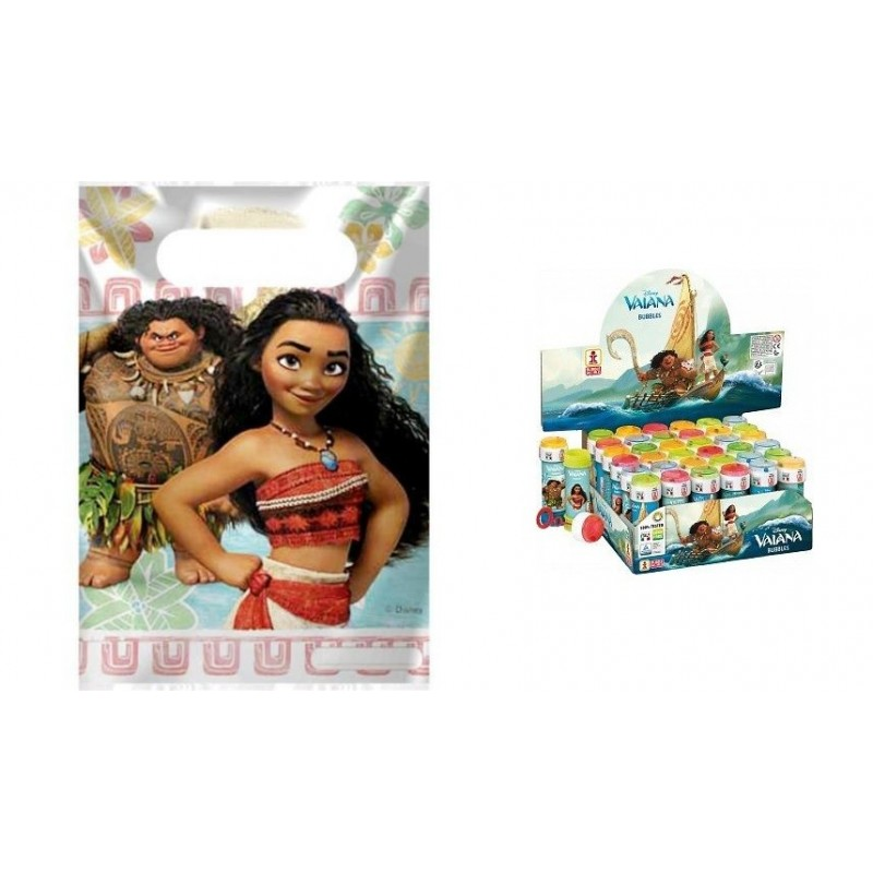 REGALINI COMPLEANNO OCEANIA DISNEY 12 BUSTINE+ 36 BOLLE