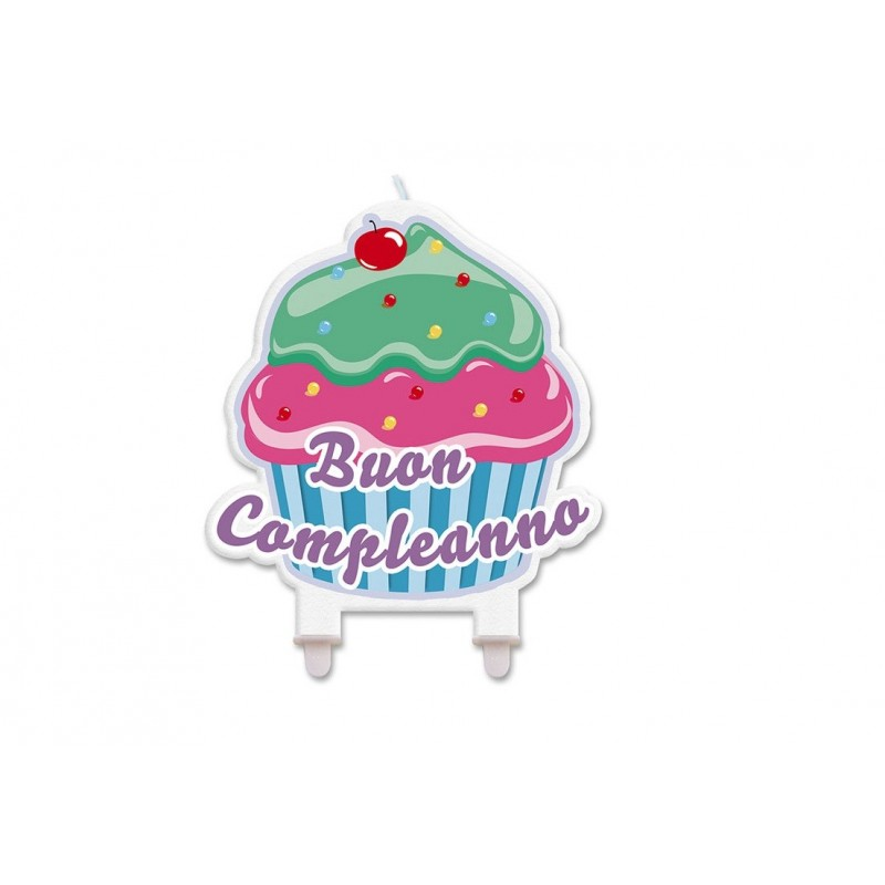 CANDELINA BUON COMPLEANNO CUPCAKE  73135