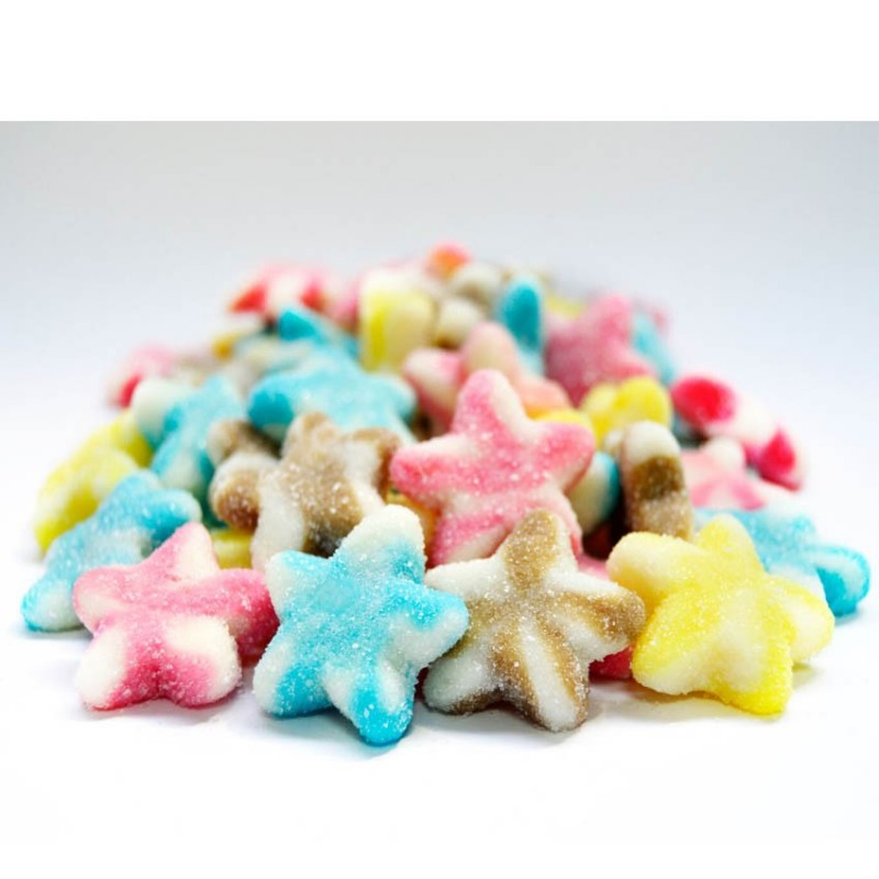 CARAMELLE GOMMOSE ZUCCHERATE STELLE COLORATE FRIZZANTI 1000GR 1264