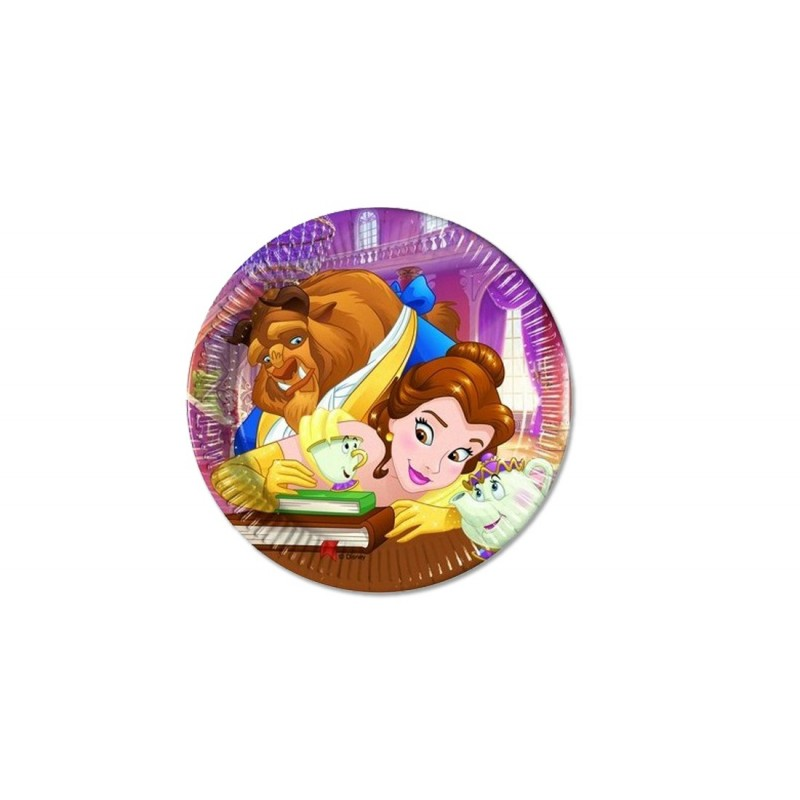 PIATTINI DESSERT LA BELLA E LA BESTIA - BEAUTY AND THE BEAST 40 pz