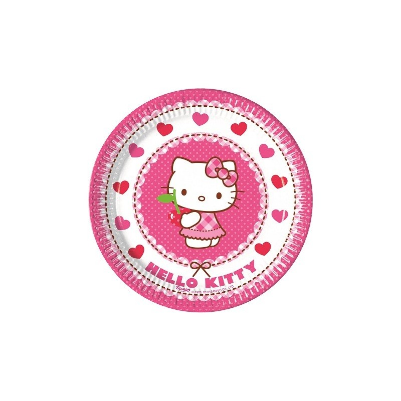 PIATTINI DESSERT HELLO KITTY 40 PZ