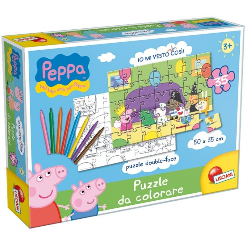 43231 PEPPA PUZZLE DA COLORARE
