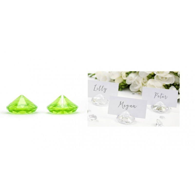 SEGNAPOSTO DIAMANTE VERDE SPOSI WEDDING SDW40-102 50 pz.
