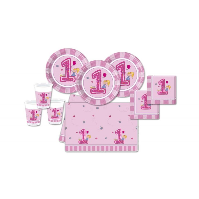 KIT N 3 - PRIMO COMPLEANNO 1 ANNO GIRLS FIRST