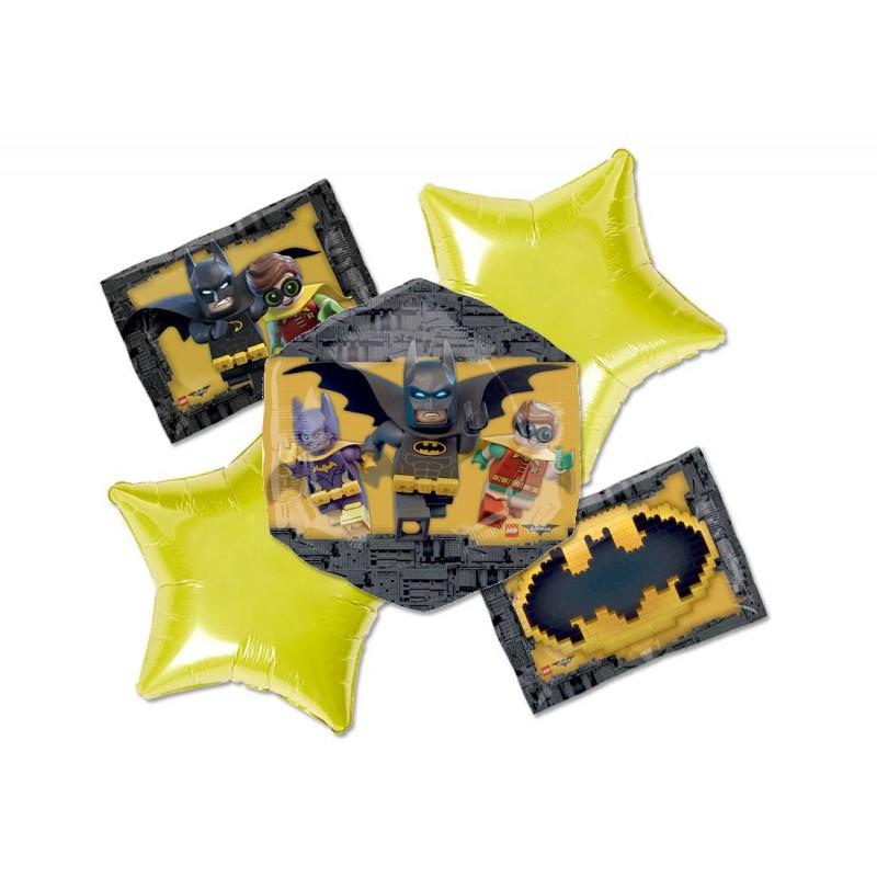 BOUQUET PALLONCINI FOIL N 2 LEGO BATMAN