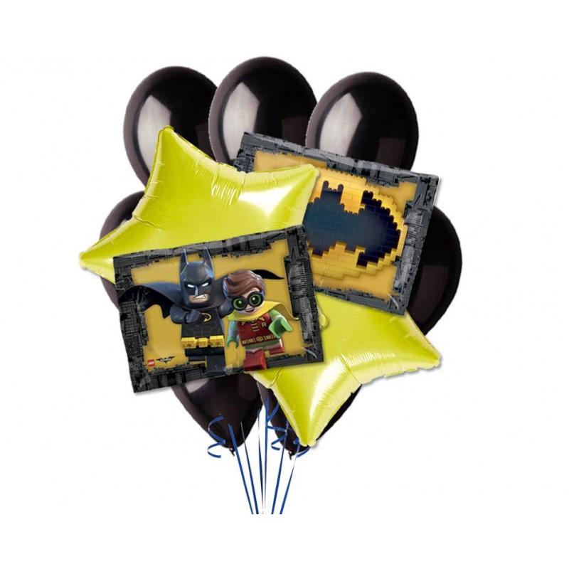 COMPOSIZIONE BOUQUET PALLONCINI FOIL N 9 LEGO BATMAN UOMO PIPISTRELLO