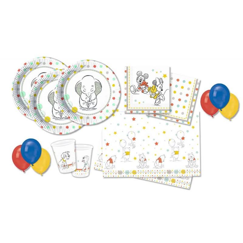 KIT N 3 - DISNEY BABY COORDINATO TAVOLA FESTA BABY SHOWER