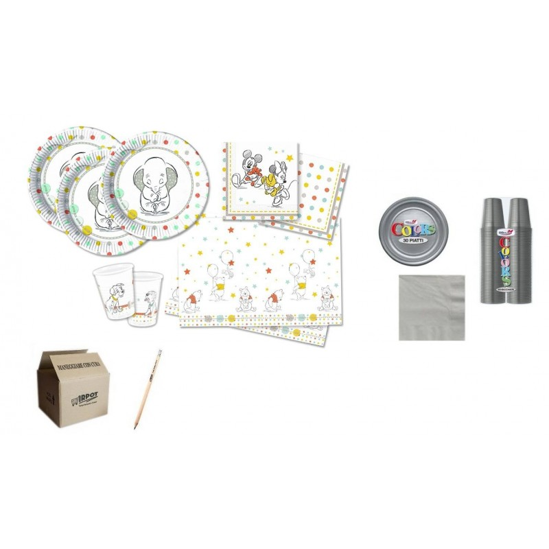 KIT N.7 COMPLEANNO BAMBINO BABY SHOWER DISNEY