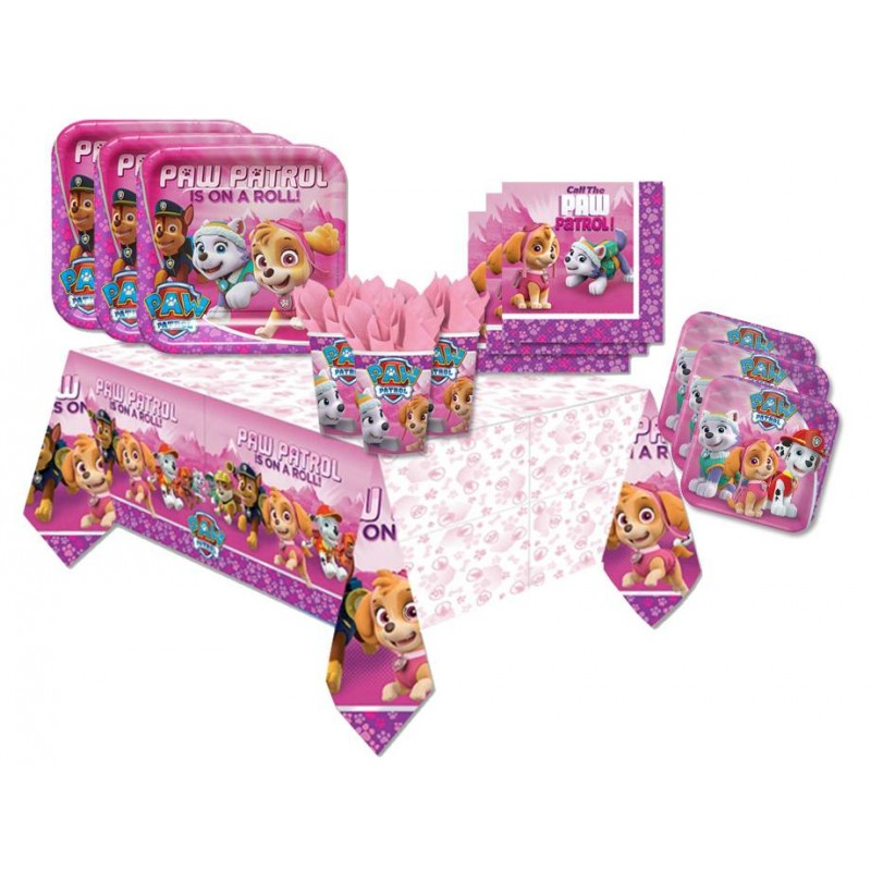 KIT N 42 - COORDINATO COMPLEANNO PAW PATROL GIRL - PINK