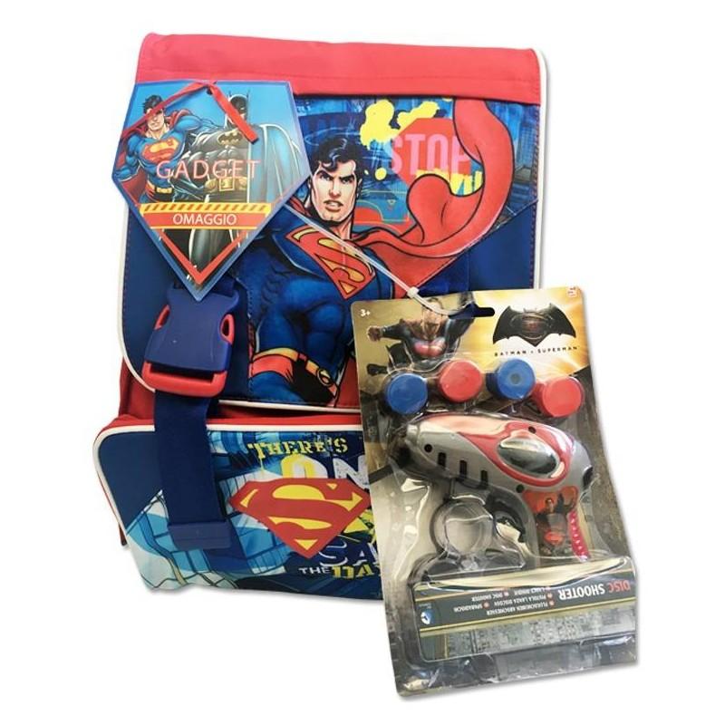 ZAINO SCUOLA ESTENSIBILE SUPERMAN CON GADGET 163950/S