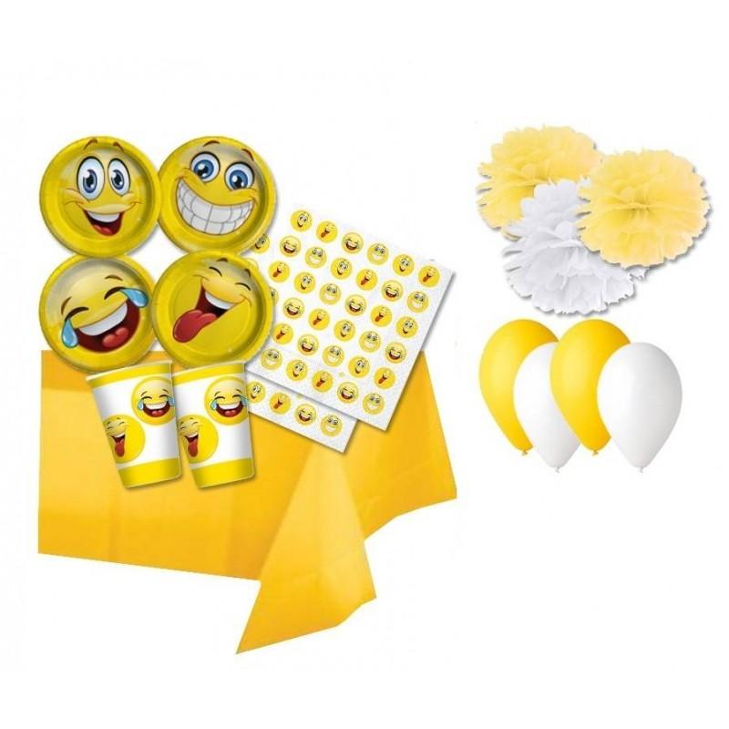 Favoloso kit compleanno faccine smile emoticon AO84