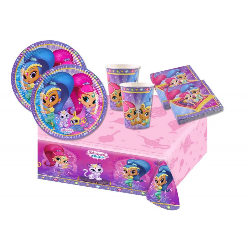 kit n 3 - SHIMMER & SHINE COORDINATO TAVOLA COMPLEANNO