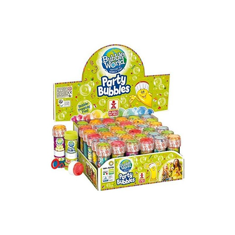 36 BOLLE DI SAPONE BUBBLE PARTY DULCOP