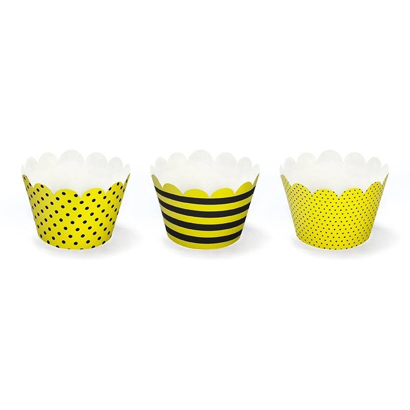 FASCETTE CUPCAKES & MUFFINS BEE 12 PZ