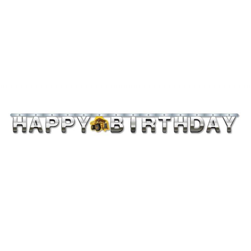 GHIRLANDA HAPPY BIRTHDAY CONSTRUCTION ZONE RUSPE NEW 031590