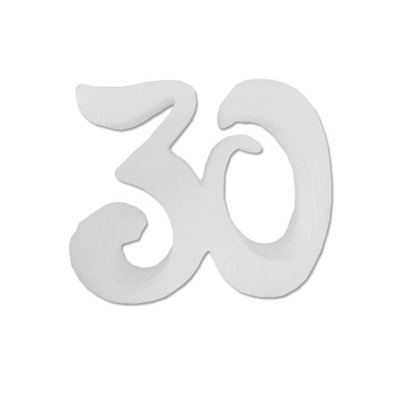 SAGOME POLISTIROLO - NUMERO 30 - X2
